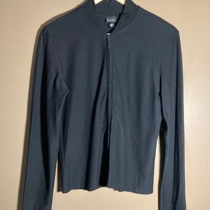 Eileen Fisher black jacket and pants